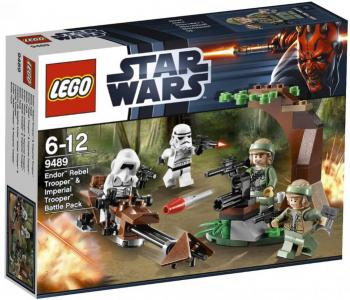 Lego Endor Rebel Trooper & Imperial Trooper Battle